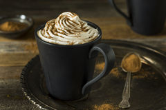 Homemade Pumpkin Spice Latte. With Whipped Cream stock images