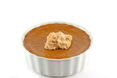 Homemade Pumpkin Tart With Pumpkin Spice Cream Topping Stock Images