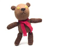 Homemade puppet - a teddy bear Royalty Free Stock Images