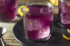 Homemade Purple Haze Cocktail Stock Photos