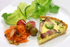 Homemade quiche Royalty Free Stock Photo