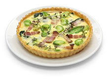 Homemade quiche Stock Photos