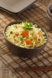 Homemade Quick Ramen Noodles Stock Photography