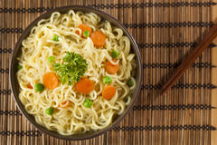 Homemade Quick Ramen Noodles Royalty Free Stock Image