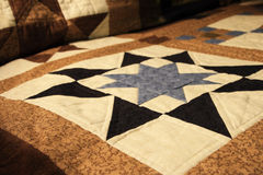Homemade quilt Royalty Free Stock Image