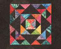 Homemade Quilt with Bright colors royalty free stock image