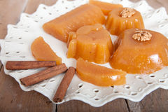 Homemade Quince Gelatin Dessert. Quince Gelatin Dessert Also Known as Kitnikez Made from Fresh Quince Stock Photography