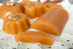 Homemade Quince Gelatin Dessert. Quince Gelatin Dessert Also Known as Kitnikez Made from Fresh Quince Stock Photo