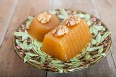 Homemade Quince Gelatin Dessert Stock Photos