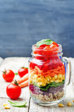 Homemade rainbow salad with vegetables and quinoa Stock Photos