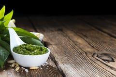 Homemade Ramson Pesto Stock Image