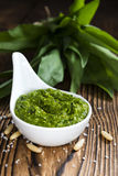Homemade Ramson Pesto Royalty Free Stock Images