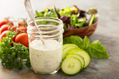Free Homemade Ranch Dressing In A Mason Jar Stock Images - 85658284