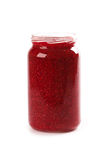 Homemade raspberry jam Stock Image