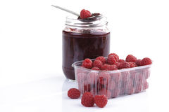 Homemade raspberry jam Stock Photo