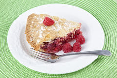 Homemade Raspberry Pie Stock Photography