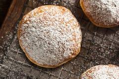 Homemade Raspberry Polish Paczki Donut Stock Photography