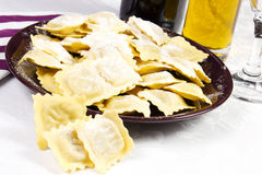 Homemade ravioli Stock Images