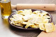 Homemade ravioli Stock Images