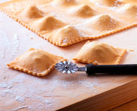 Homemade ravioli Royalty Free Stock Images