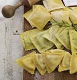 Homemade Ravioli Assortment Stock Images