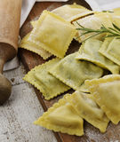 Homemade Ravioli Assortment Royalty Free Stock Images