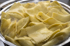 Homemade ravioli cooking Royalty Free Stock Images
