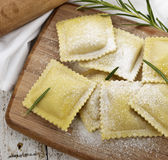 Homemade Ravioli Stock Photography