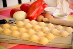 Homemade raviolis. Royalty Free Stock Photo