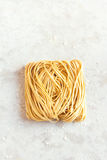 Homemade Raw Egg Noodles Royalty Free Stock Images