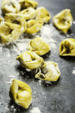Homemade raw Italian tortellini Royalty Free Stock Image
