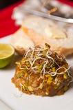 Homemade raw salmon tartar Royalty Free Stock Images