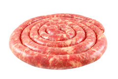 Homemade raw sausage Royalty Free Stock Photography
