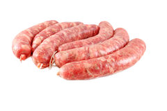 Homemade raw sausage Royalty Free Stock Photos