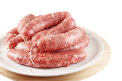 Homemade raw sausage Royalty Free Stock Photo