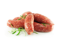 Homemade raw sausages Royalty Free Stock Image