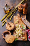 Homemade raw Tortellini Royalty Free Stock Images