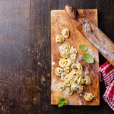 Homemade raw Tortellini Royalty Free Stock Image