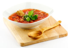 Homemade red Borscht Stock Photography