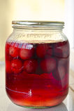Homemade red cherry compote Stock Image