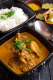 Homemade red curry with beef and rice Royalty Free Stock Photos