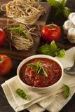 Homemade Red Italian Marinara Sauce Stock Image