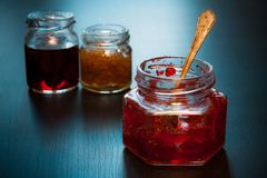Homemade red jam. Royalty Free Stock Photos