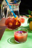 Homemade red sangria Stock Photography