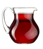 Homemade red wine in the transparent glass jar Stock Images