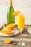 Homemade Refreshing Orange Mimosa Cocktails Royalty Free Stock Image