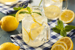 Homemade Refreshing Yellow Lemonade Stock Photos