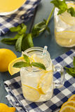 Homemade Refreshing Yellow Lemonade Stock Images