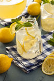 Homemade Refreshing Yellow Lemonade Royalty Free Stock Photos