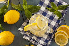 Homemade Refreshing Yellow Lemonade Royalty Free Stock Images